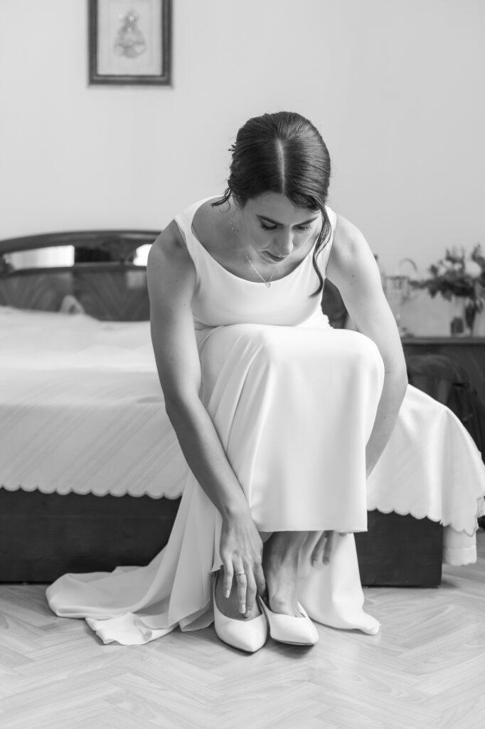 Aufnahme der Braut